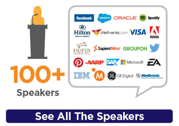 100+ speakers...see all the speakers