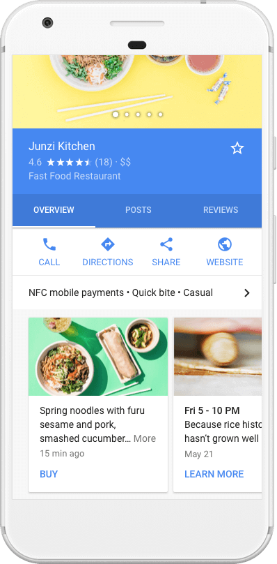 Google Posts In SERPs