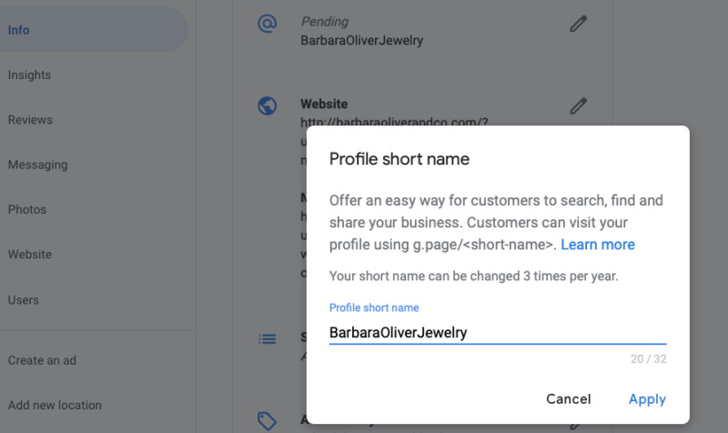 Google adds short names and URLs to Google My Business
