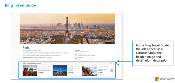 Tours and activities ads in Bing Travel Guides