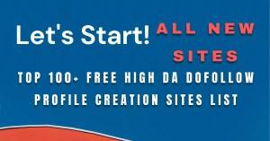 High DA Dofollow Profile Creation Sites List