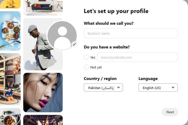 Pinterest Business Account Setup