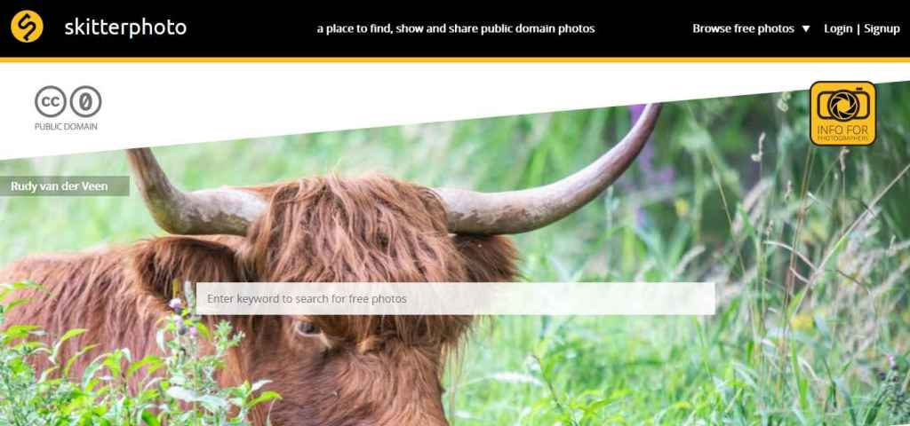 Skitterphoto a place to find, show and share public domain images