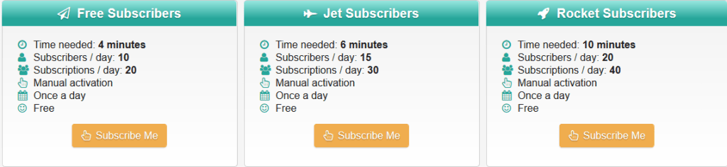 Subscribers.video free YouTube subscribers plans