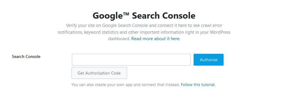 Google Search Console Setup Wizard - Rank Math