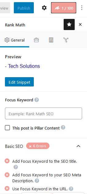 Rank Math New Post SEO setting