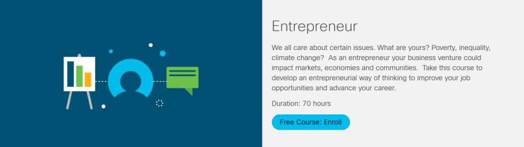 Entrepreneur Course by Cisco