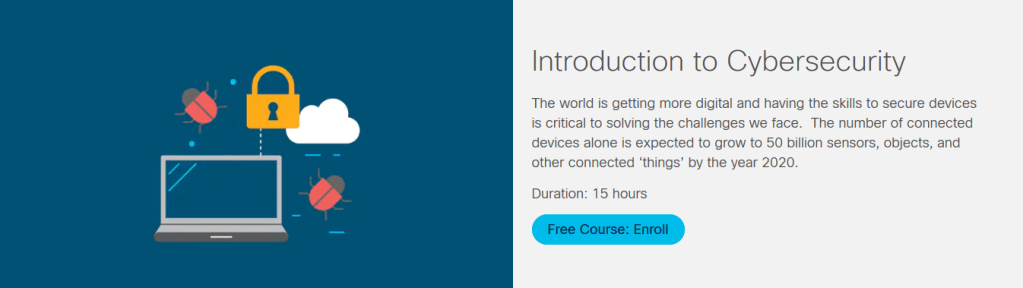 Introduction to Cybersecurity Course by Cisco