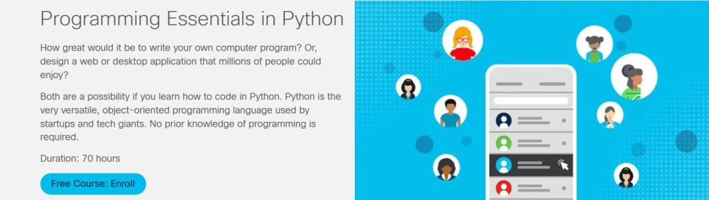 Programming Essentials in Python Course by Cisco