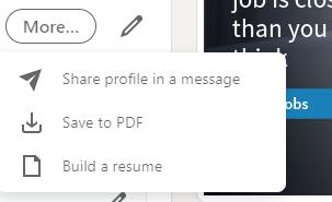 LinkedIn Profile for CV(Resume)