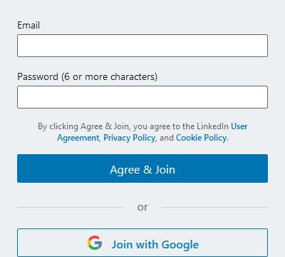 Sign Up LinkedIn Profile