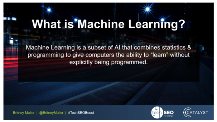 definition what is machine learning