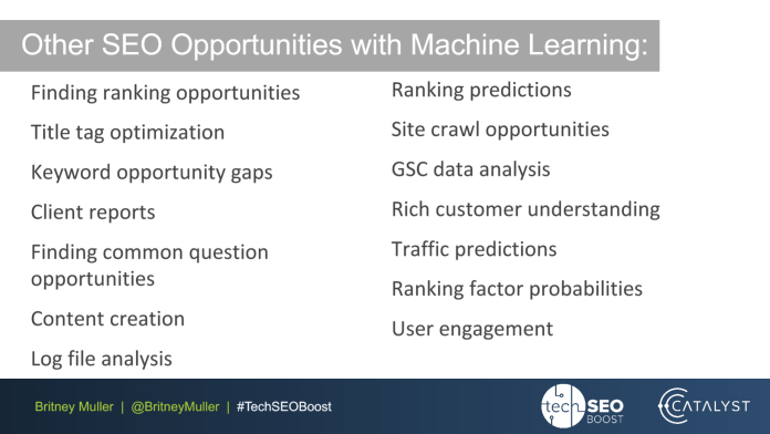 opportunities with machine learning