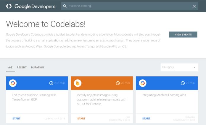 google codelabs