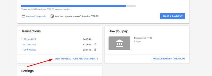screenshot from Google Ads about how to see if you've been credited for invalid clicks