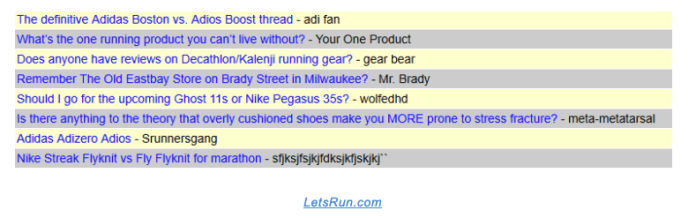 Online forums example
