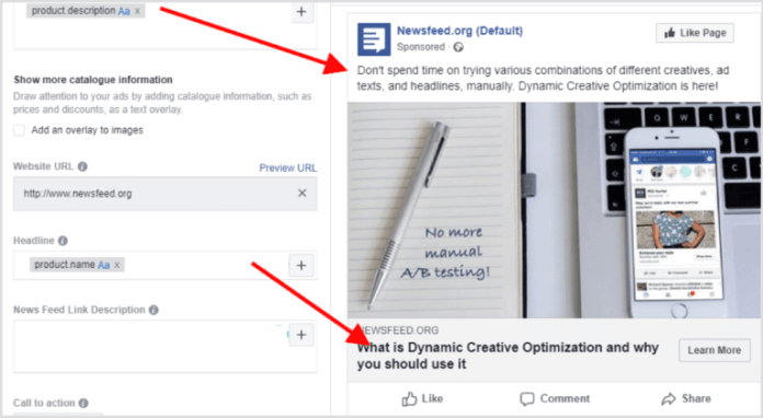 promoting blog posts on Facebook dynamic ads