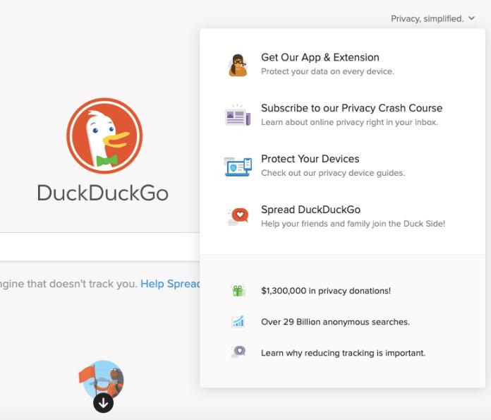 duckduckgo privacy information