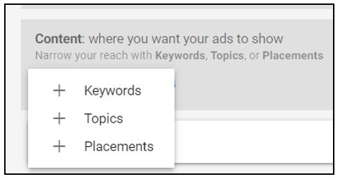 using criteria targeting to target ads on Google without keywords