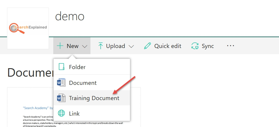 how to embed sharepoint columns into document templates search