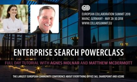 Enterprise Search Powerclass at European Collaboration Summit