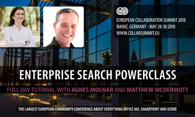 Enterprise Search Powerclass at European Collaboration Summit