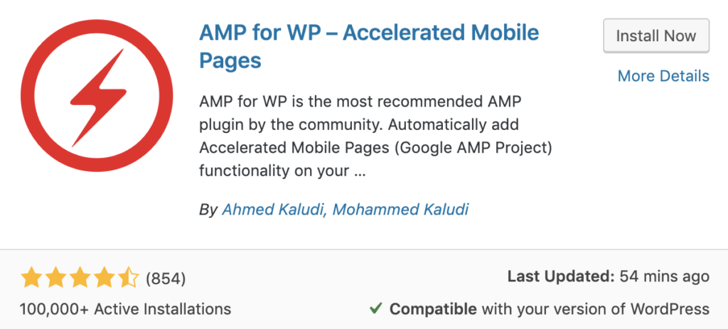 AMP for WP plugin