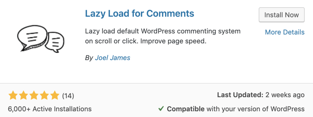 Lazy load for comments plugin