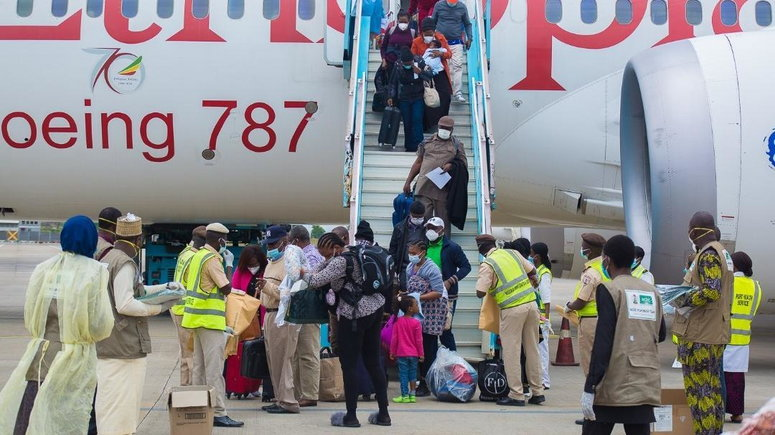 FEDERAL GOVERNMENT RECEIVES 69 NIGERIANS REPATRIATED FROM LEBANON