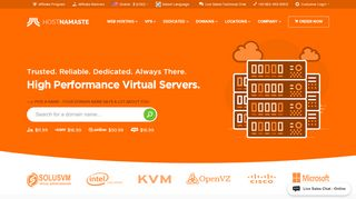 HostNamaste > OpenVZ VPS|KVM VPS|Windows VPS|Dedicated Servers - HostNamaste