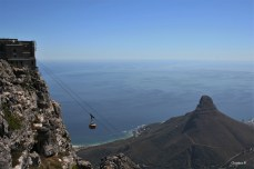 Cable Car going up and down Table Mountain in Cape Town
