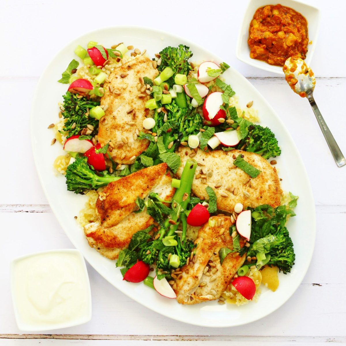 Jamie Oliver's Chicken, Broccoli and Bulgur Wheat Salad