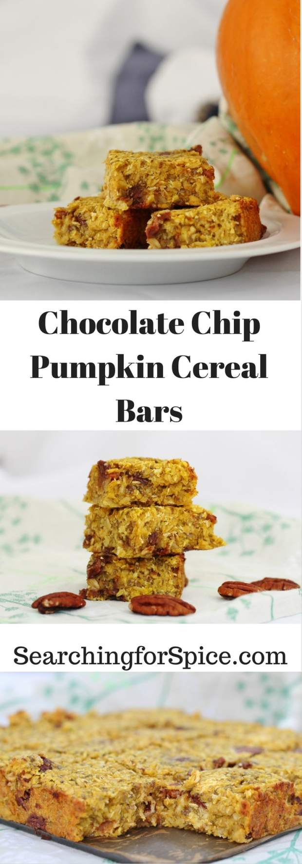 Chocolate Chip Pumpkin Cereal Bars
