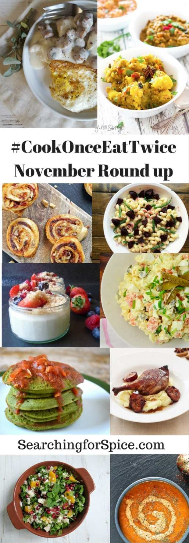 #cookOnceEatTwice November Round Up