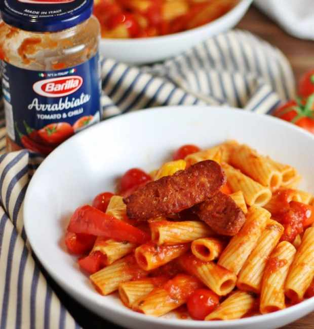 Three easy pasta recipes with Barilla - chorizo arrabiata