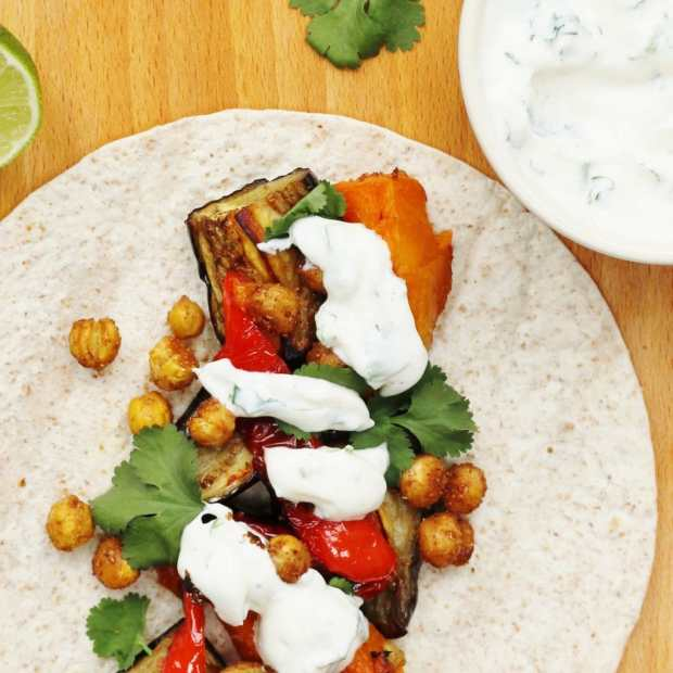 Spiced chickpea tacos