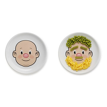Mr Food Face plates from UncommonGoods