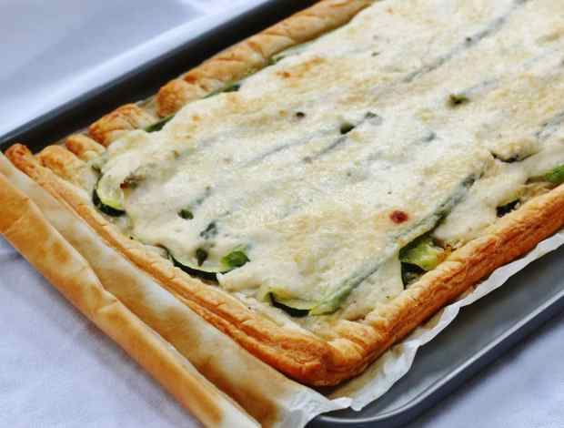easy asparagus tart cook once eat twice july linky and june round up