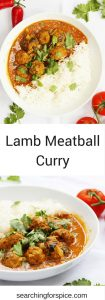 Easy lamb meatball curry. Mildly spiced lamb meatballs in a tomato and coconut curry gravy. This curry recipe is perfect to make as an Indian takeaway alternative.