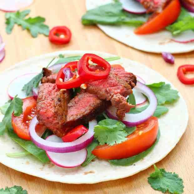 Barbacoa beef steak tacos