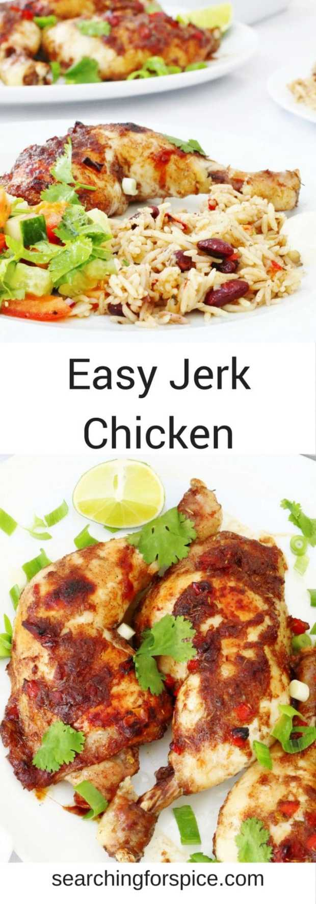 This easy jerk chicken recipe is full of flavour but not too hot. It makes a great easy family meal that kids will love too.