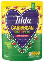 Tilda limited edition rice and peas. A perfect side for my easy jerk chicken