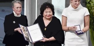 Beatrice Fihn and Hiroshima survivor Setsuko Thurlow
