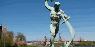 Let Us Beat Swords into Plowshares - sculpture by E.Vuchetich