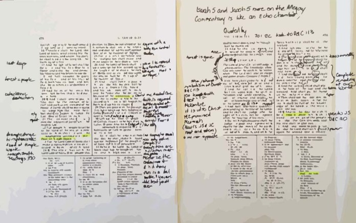 Want to make studying Isaiah easier? Download this wide margins document to make notes as you read.