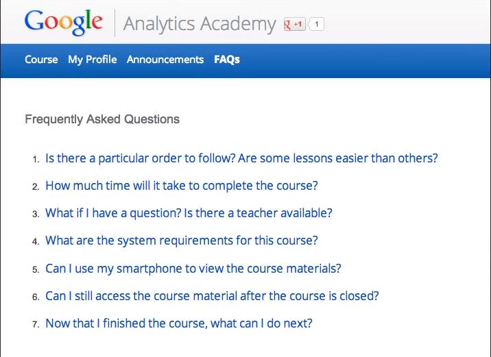 คำถามที่พบบ่อยๆ เกี่ยวกับ Google Analytics certifications