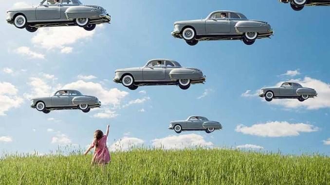 ภาพรถ ลอยอยู่บนท้องฟ้า ของ Logan Zillmer