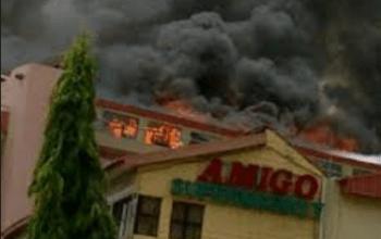 Breaking: See Photos at Amigo Market Fire Outbreak