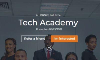 GTBank Graduate Tech Academy Recruitment 2021 - Apply Here