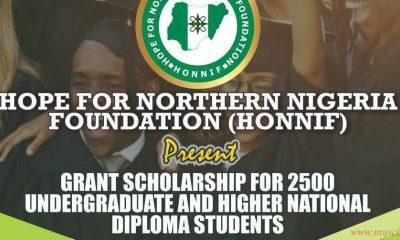 HONNIF Scholarship 2021/2022 for Undergraduate & HND Students 4